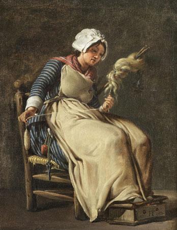 Gemälde von Hugues Taraval - A kitchen maid (1783)