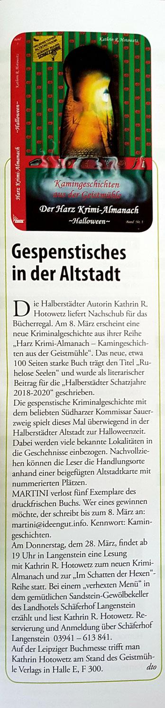 """Artikel aus der """"Martini"""" März 2019"""