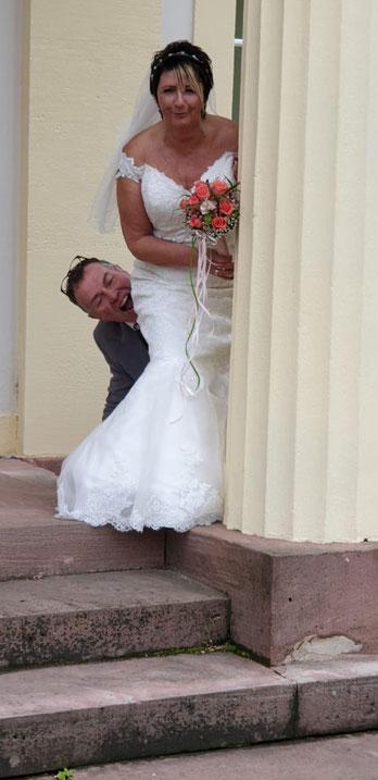 Hochzeit und Freie Trauung im Rohrbacher Schlösschen. Foto: Nina Zwaller.