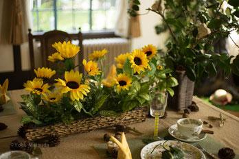 夏らしいテーブルモチーフ