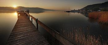 Sonnenaufgang im Strandbad Bodman