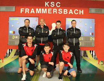 Kader 21/22: stehend von links: Martin Vorbeck, Armin Wagner, Philipp Kirsch, Daniel Weiß ; knieend von links: Florian Schwarzkopf, Paul Steigerwald, Luca Büdel