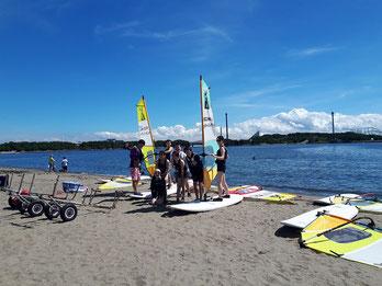 スピードウォール ウインドサーフィン 海の公園 横浜 神奈川 初心者 スクール 体験