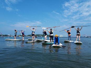 ウインドサーフィン スタンドアップ SUP スクール 海の公園 スピードウォール 初心者 体験 神奈川 横浜