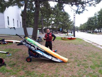 ウインドサーフィン SUP スクール 海の公園 神奈川 横浜 スピードウォール speedwall