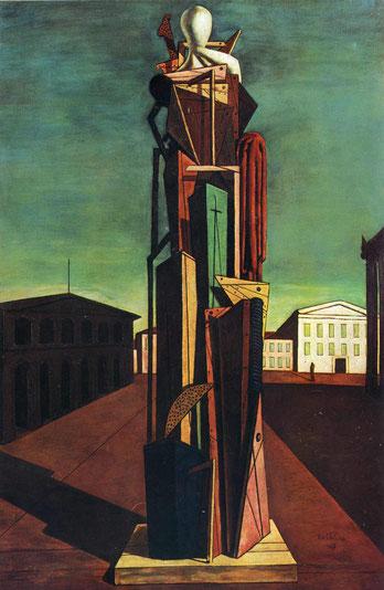 """Giorgio de Chirico, """"Il grande metafisico"""", 1917"""