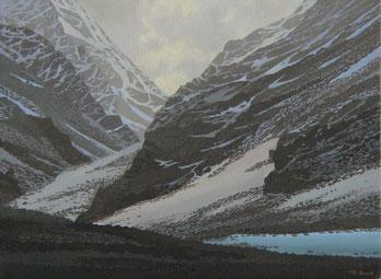 """Martin Guido Becker, """"Gebirgslandschaft"""", 2007, Öl/Lwd, 50/70 cm"""