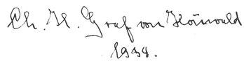 Signum Christoph Heinrich Ernst von Houwald, 1934.