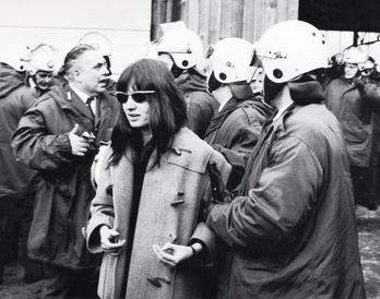 Ulrike anholdes under en demonstration i Berlin 1968