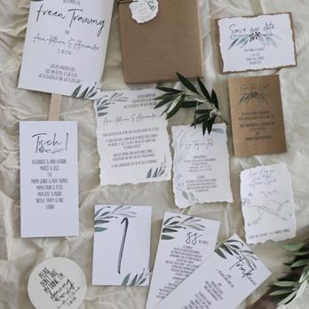 Hochzeitspapeterie Büttenpapier Kraftpapier
