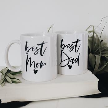 """Tasse """"best Mom"""", """"best Dad"""""""