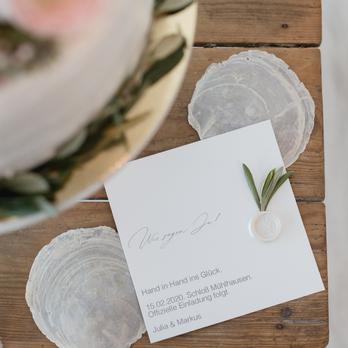 Wir sagen Ja, Hochzeitssiegel Olivenzweig