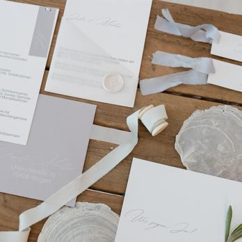 clean wedding Hochzeitspapeterie