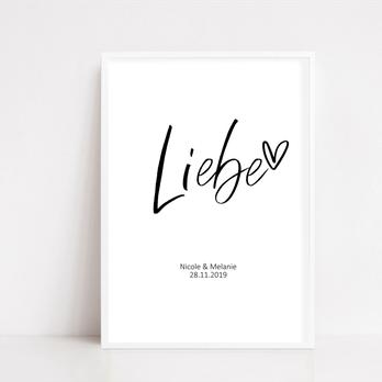 """Poster """"Liebe"""""""
