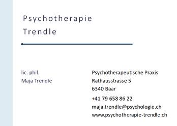 Psychotherapeutin Maja Trendle Adresskarte Bild