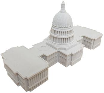 3D-Druck-Architektur-Miniaturmodell-kapitol