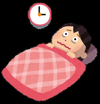 不眠症で眠れない女性