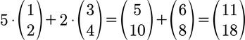 Konkretes Beispiel für eine Linearkombination