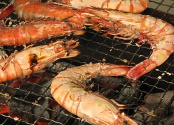 BBQ 海老の塩焼き