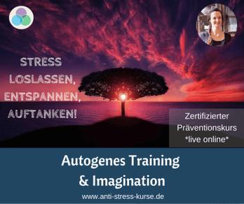 Präventionskurs für Betriebliche Gesundheit: Autogenes Training & Imagination - Anti-Stress-Trainerin Christina Gieseler - Mindful Balance Gesundheitsprävention & Stressmanagement