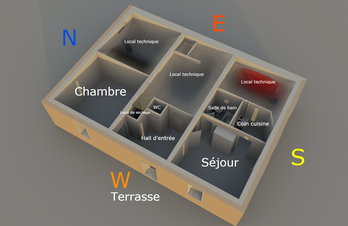 Le plan du Gîte De Giron à Giron dans l'Ain