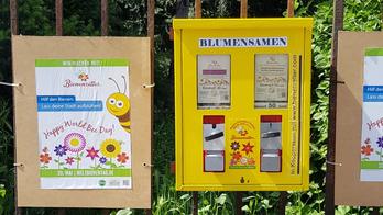 Der Blumensamenautomat am Frankfurter Güntersburgpark