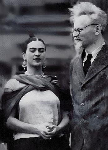Frida Kahlo og Leo Trotskij