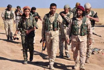 """Medlemmer af """"Syriens Demokratiske Styrker"""" – SDF"""