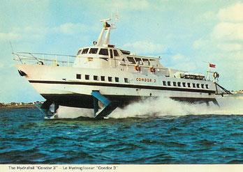 Condor 3 at sea.