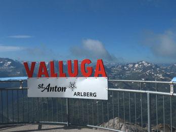 auf dem Valluga-Gipfel