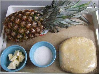 ananas, pate a tarte, tatin ananas