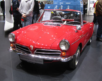Een NSU Spider op de Techno Classica 2015 in Essen.