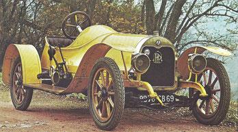 Een Rolland Pilain 16 HP uit 1909.