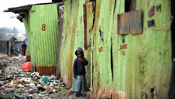 Mukuru kwa Njenga slum in Nairobi, Kenya