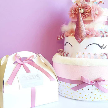 gâteau de couches Licorne girly