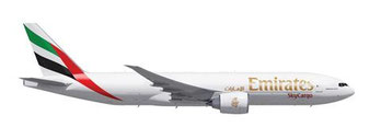 Soon serving Novosibirsk Tolmachevo Airport – Boeing 777F of Emirats SkyCargo  /  source: EK