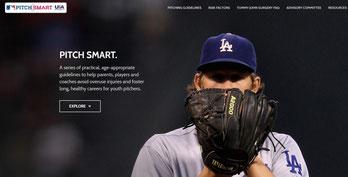 La homepage della sezione Pitch Smart del sito MLB.com