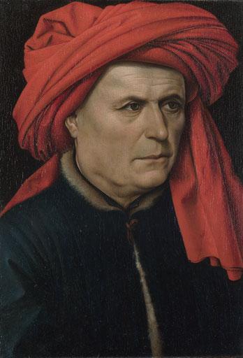 Robert Campin (ca. 1435) Portret van een Man.