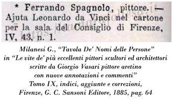 Leonardo_Battaglia di Anghiari_Fernando Spagnuolo_Vasari_Note delle Vite 1885