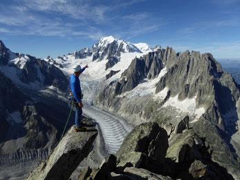 Sommet de l'Aiguille du Moine à Chamonix