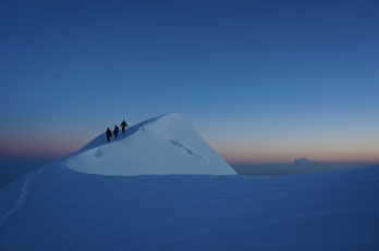 Sur l'arête des Bosses : Mont-Blanc