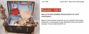 Results auction sale old domed trunk 120 euros Drouot