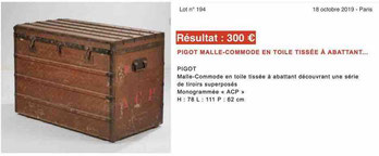 estimate old trunk 300 euros
