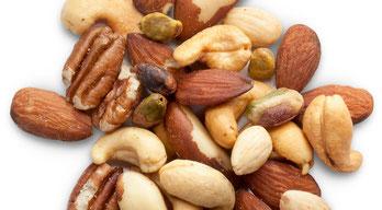 gezonde snacks noten fruit vis vlees