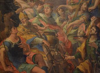 Detail einer Darstellung der Vierzehn Nothelfer aus der Pfarrei Breitenbrunn. pde-Foto: Katharina Hupp