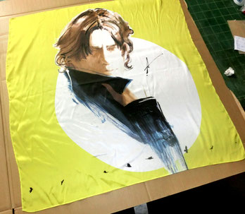 氷室京介さんスカーフ額装