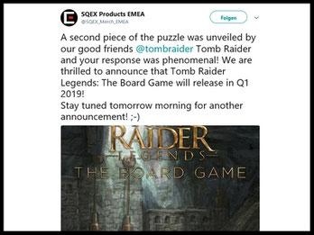 Square Enix kündigt Brettspiel zu Tomb Raider an