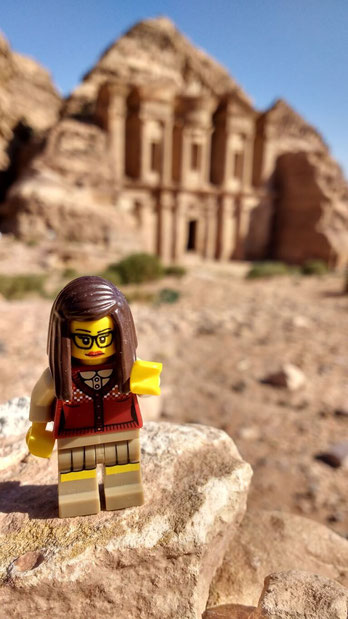 Getting a history lesson from lego at Petra, Jordan. Dante Harker