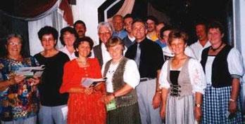 Zur Erinnerung:  1998 bestand der Chor aus 17 Mitgliedern - Leitung Anton Galli