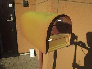 熊本市M様家。郵便ポスト塗装前。